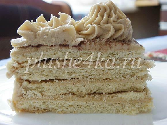 Торт из песочного теста со сгущенкой