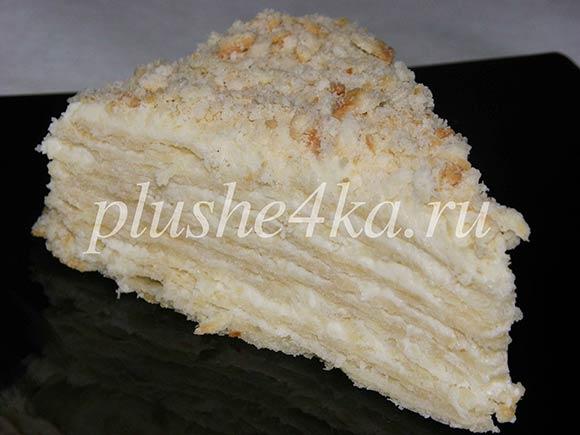 Торт «Наполеон» на кефире с заварным кремом