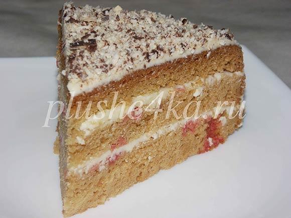 Торт «Сметанник», приготовленный в мультиварке