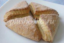 Творожное печенье «Треугольники» с сахаром