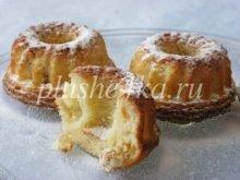 Творожные кексы с изюмом в формочках