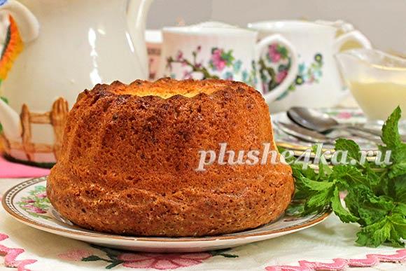 Творожный кекс, приготовленный в духовке