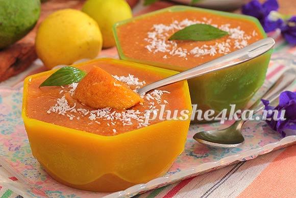 Желе из манго с желатином